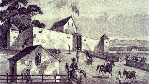 Sutters Fort in «New Helvetia», das er 1839 zu bauen begann.