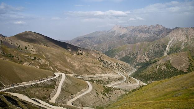 Seidenstrasse: Taldykpass in Kirgisistan