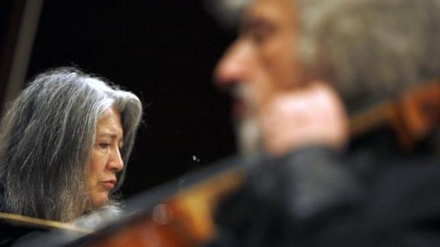 Martha Argerich und Mischa Maisky bei ihrem ersten gemeinsamen Konzert in Luzern vor drei Jahren.