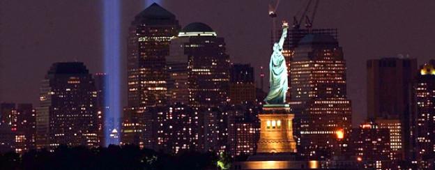 Lichtstrahlen, wo früher Türme standen: New York nach «9/11».