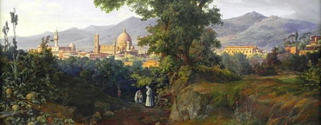 Florenz im Jahr 1832, gemalt von August Ahlborn.
