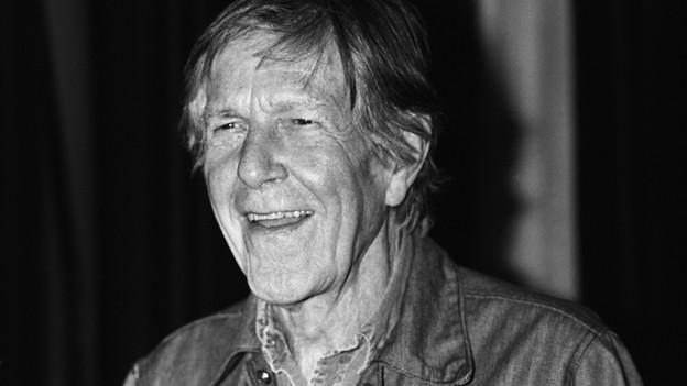 John Cage, 1991, als Ehrengast im Zürcher Stadthaus.