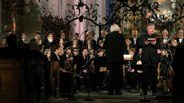 Der Tenor Werner Güra bei den Aufnahmen zu Bachs Weihnachtsoratorium