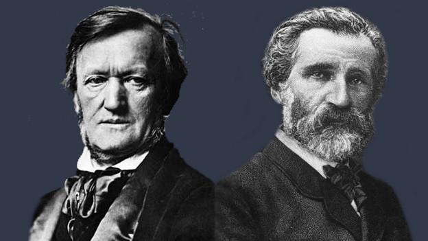 Richard Wagner und Giuseppe Verdi - in manchen Dingen seelenverwandt, in anderen überhaupt nicht.