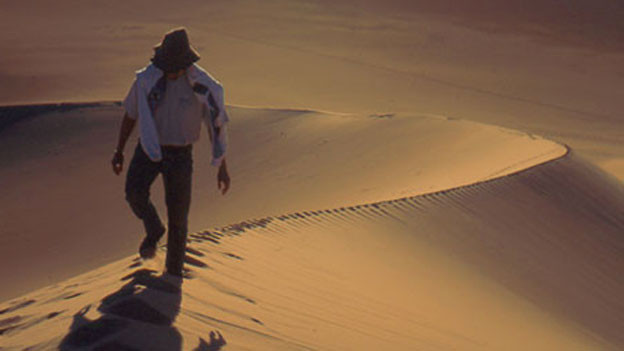 Andrea Vogel lief zu Fuss 3000 km durch die Wüste.