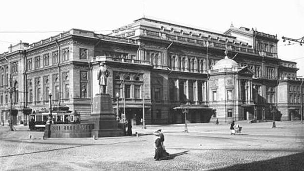 Über 150 Jahre prägende Ausbildungsstätte für russische Musikerinnen und Musiker: Das Konservatorium von St. Petersburg, 1913.