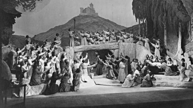 «Tannhäuser»-Aufführung an den Bayreuther Festspielen 1930.