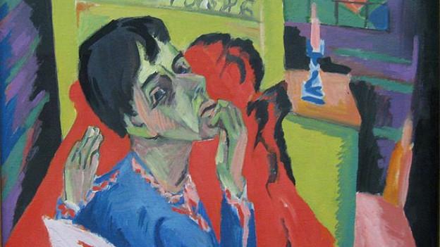 Ernst Ludwig Kirchner: Selbstbildnis als Kranker, 1918 (Ausschnitt).