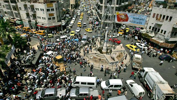 Immer wieder Demonstrationen: Im Zentrum von Ramallah.