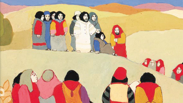 Ausschnitt aus dem Cover von Kees de Korts «Die grosse Kinderbibel».