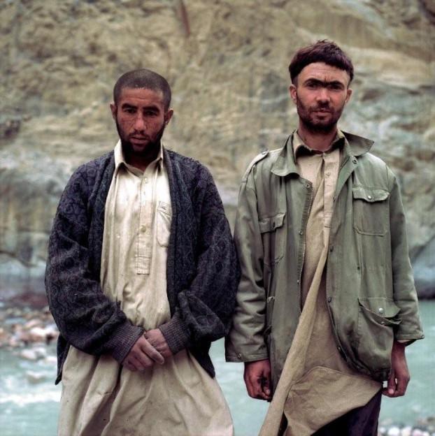 Arbeiter am Karakoram-Highway, Pakistan 2001.