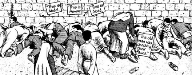 Eindringliche Szene aus dem Comicbuch «Gaza» von Joe Sacco