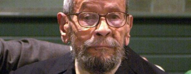 Nagib Machfus bei seinem 91. Geburtstag im Jahr 2002.