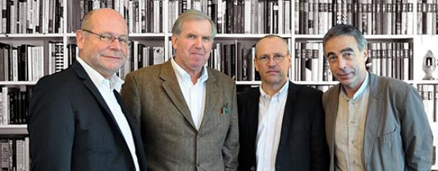 Sorgen für Aufregung. Die «Kulturinfarkt»-Autoren Armin Klein, Stephan Opitz, Dieter Haselbach und Pius Knüsel.