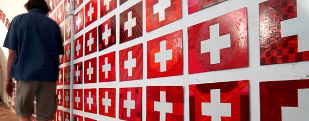 Wie viel Kultur braucht die Schweiz? Kunstprojekt des Westschweizers Laurent Veuve.
