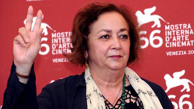 Shahrnush Parsipur 2009 an den Filmfestspielen von Venedig, wo die Verfilmung ihres Buches «Frauen ohne Männer» präsentiert wurde.