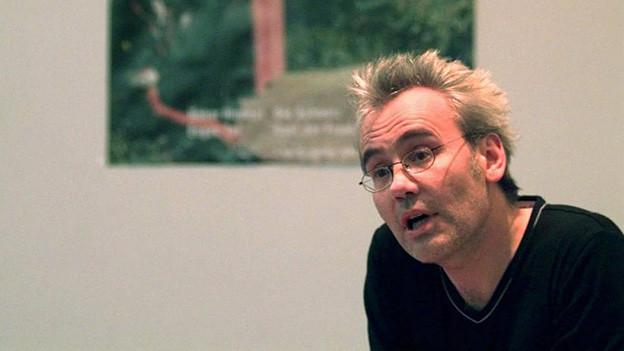 Hansjörg Schertenleib 1998 an der Frankfurter Buchmesse.