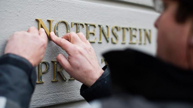 Aus der Bank Wegelin wurde «Notenstein», März 2012 in St. Gallen.