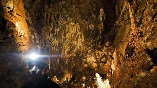 Im Innern der Grotte.