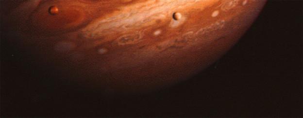 Eine Voyager-Aufnahme von Jupiter aus dem Jahr 1979. Zusammen haben die beiden Sonden über 50 000 Bilder des Planeten gemacht.