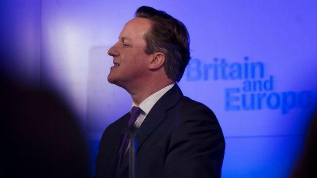 David Cameron beim Auftritt von 23. Januar 2013