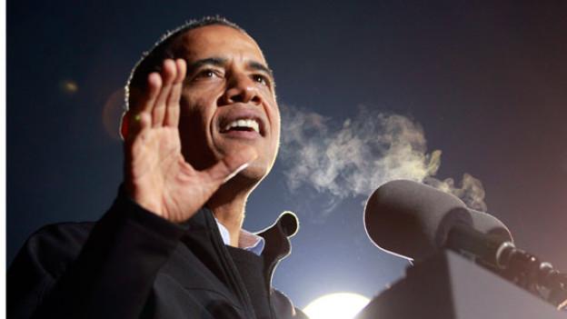 Der alte Präsident ist auch der neue Präsident: Der Demokrat, Barack Obama, ist für eine zweite Amtszeit bestätigt worden. Hier bei einer Wahlkampfveranstaltung in Iowa.