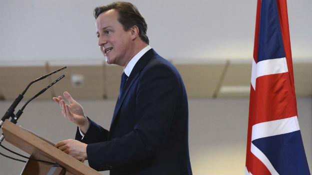 David Cameron am EU-Gipfel