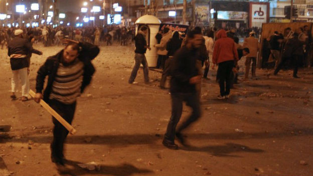 Strassenschlachten in Kairo