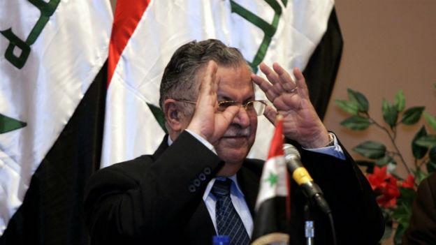 Der irakische Präsident Jalal Talabani in Bagdad