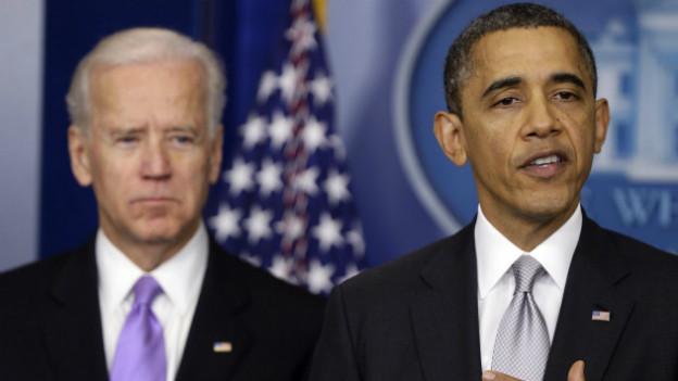 Präsident Obama und Vize Joe Biden verkünden die Einsetzung einer Taskforce