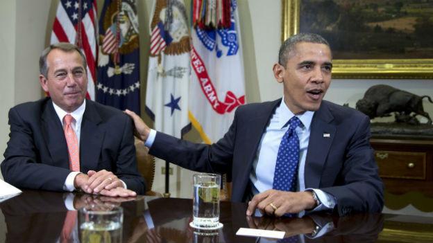 Barack Barack Obama und John Boehner: Gegner im Budget-Streit