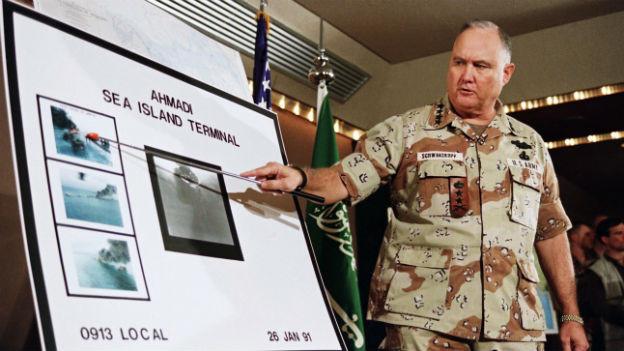 Norman Schwarzkopf führte die internationalen Truppen im Irakkrieg von 1991 an.