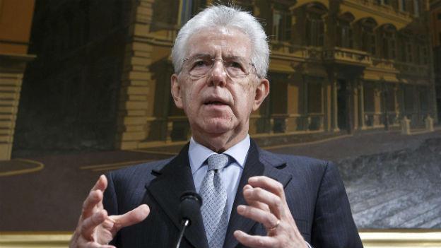 Der italienische Regierungschef Monti will ein Bündnis aus Mitteparteien in die Wahlen führen.