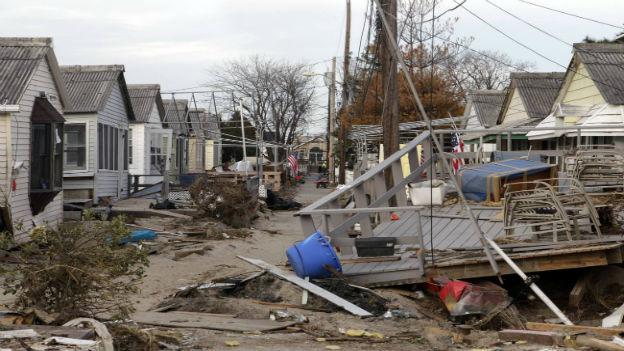 Zerstörte Häuser nach Sandy