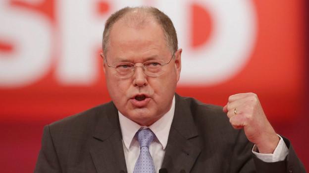 Ohne Lohnforderung: Steinbrück bei der Kanzlernomination am 9. Dezember.
