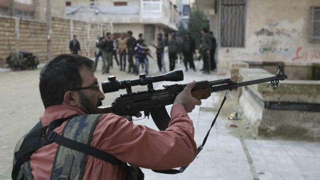 Ein Kämpfer der Freien Syrischen Armee.