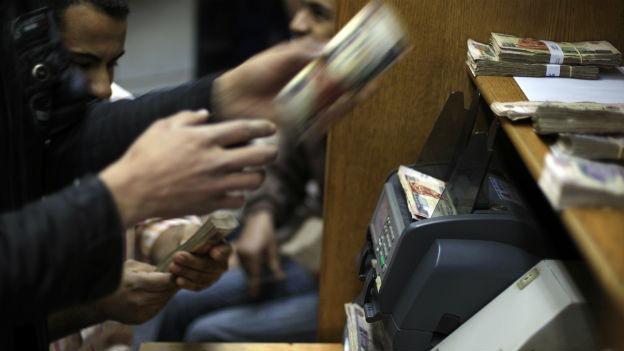 Geldwechsel in Ägypten