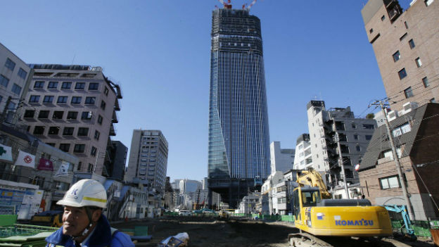 Baustelle in der japanischen Hauptstadt Tokyo.