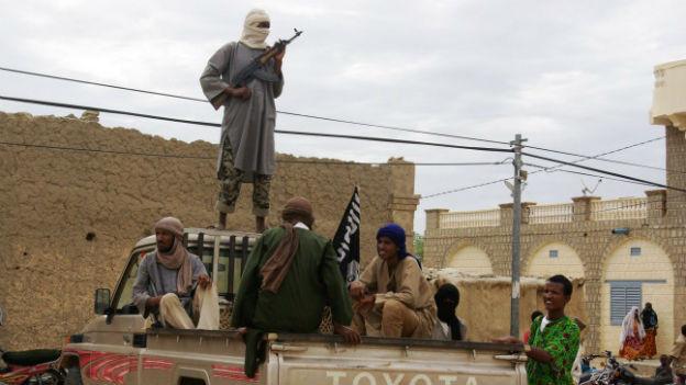 Islamistische Kämpfer in der malischen Stadt Timbuktu.