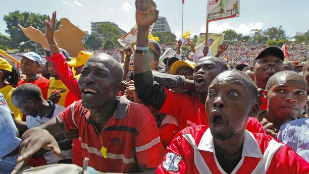 Wahlkampfveranstaltung in Nairobi