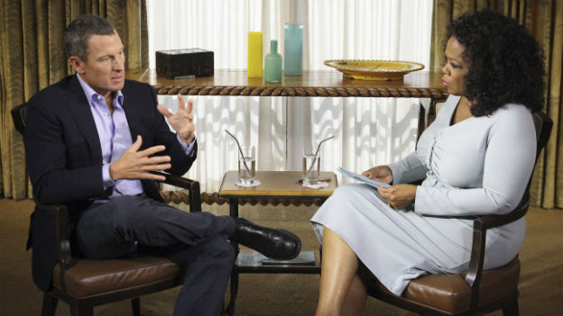 Lance Armstrong bei der US-Talkmasterin Oprah Winfrey.