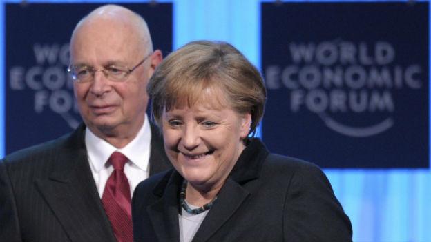 Angela Merkel am WEF 2012