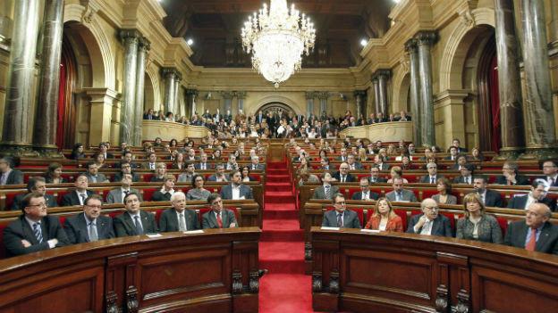 Das katalonische Regionalparlament - hier bei einer Sitzung im Dezember 2012.