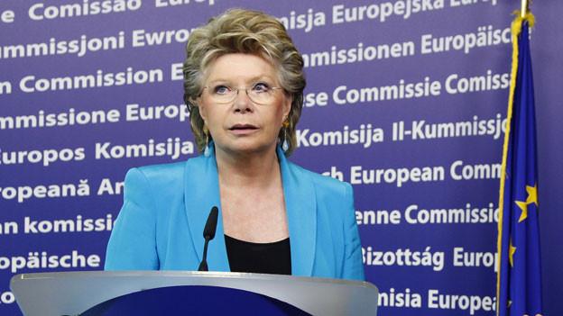 Vivane Reding im EU-Hauptquartier in Brüssel im 2011.