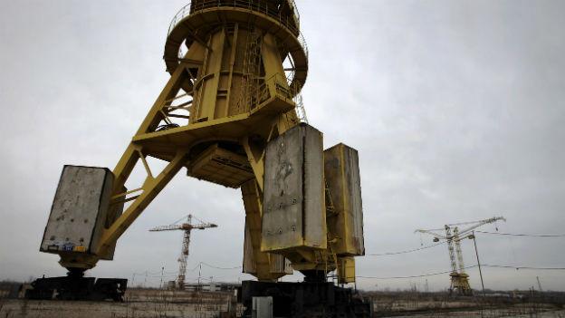Auf dieser Baustelle soll das Atomkraftwerk entstehen.