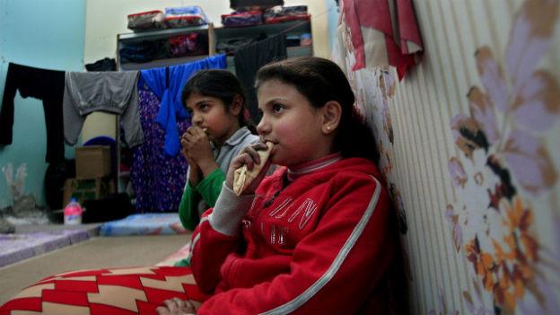 Palästinensische Kinder im Flüchtlingscamp Yarmouk südlich von Damaskus