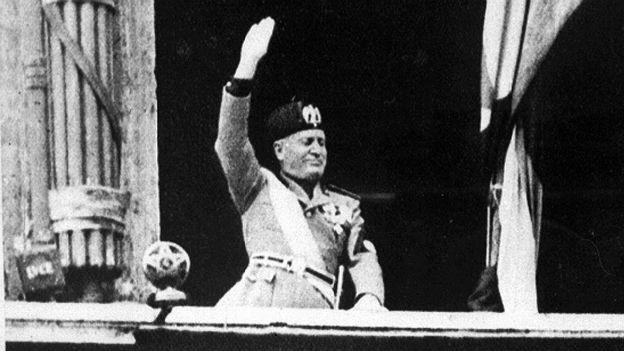 Erinnerungen an Benito Mussolini.
