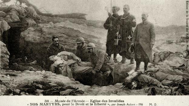 Darstellung gefallener französischer Soldaten im Ersten Weltkrieg