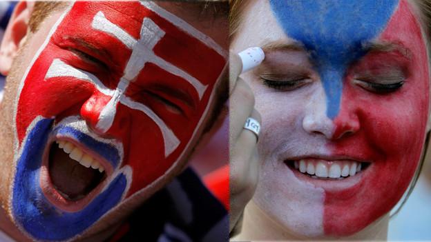 Können mit der Trennung gut leben: Slowake und Tschechin