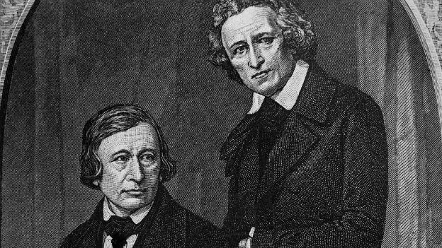 Wilhelm (l.) und Jacob Grimm auf einem Porträt, das sie selbst gar nicht mochten